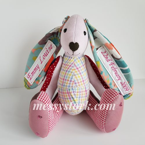 Bright Bunny made from Emmy's Clothes, made using a My Fabric Heaven Pattern