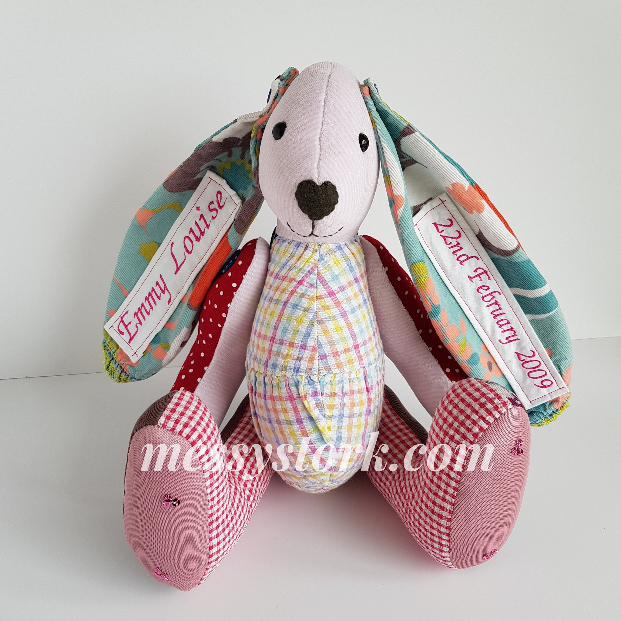 Bright Bunny Made from Clothes