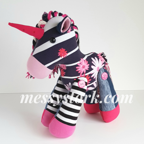Navy and Pink Unicorn