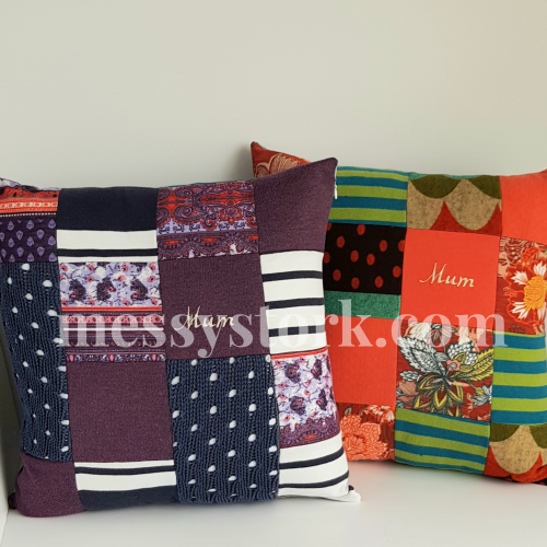 Memory Cushions – made from a Mum's clothing