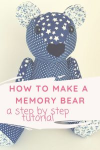 how to sew a memory bear pin image