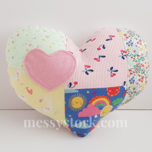 heart shaped keepsake cushion