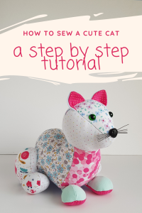 cat sewing pattern image for pinterest