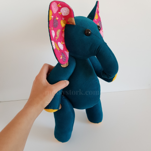 easy toy elephant sewing pattern