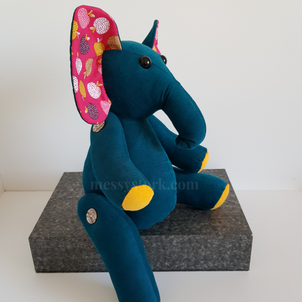elephant sewing pattern with jointed arms and legs