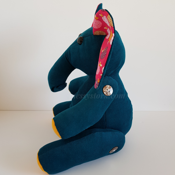 elephant sewing pattern with curved trunk