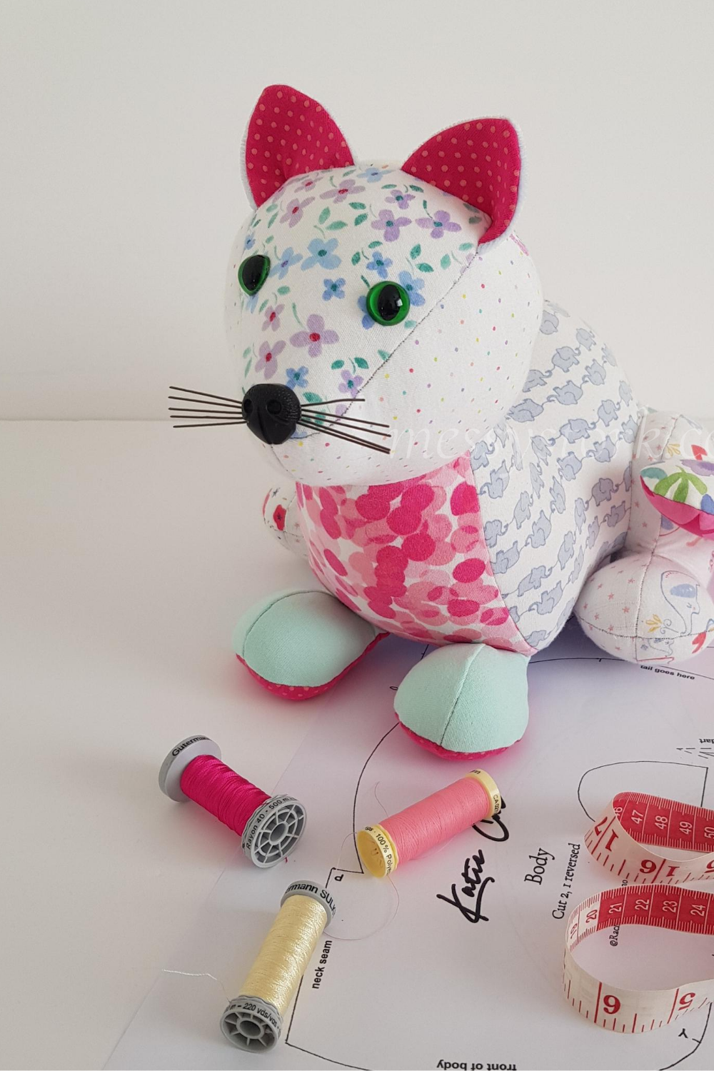 cat sewing pattern tutorial