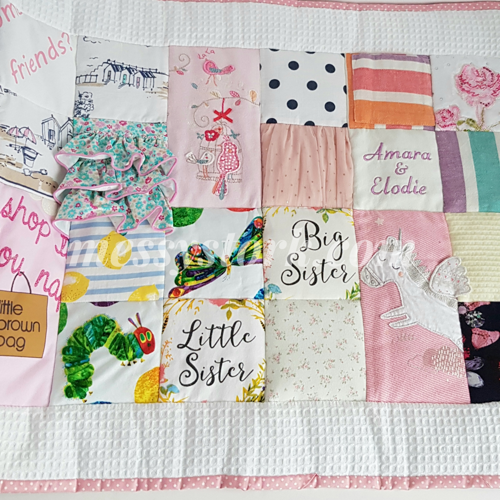 quilt made from clothing