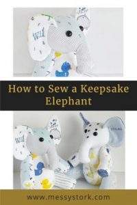how to make an elephant sewing pattern
