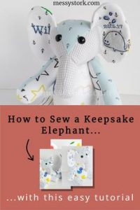 easy elephant sewing pattern