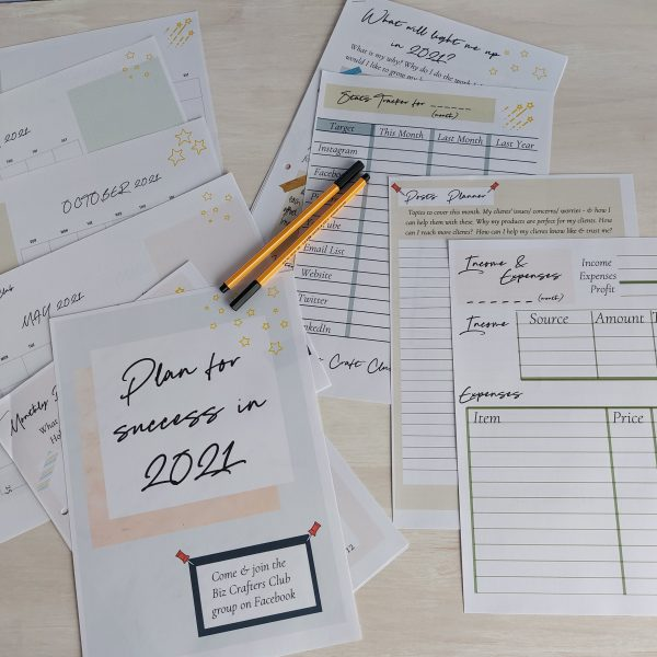 Downloadable business planner 2021