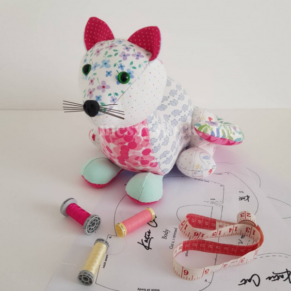 soft toy cat sewing pattern