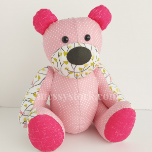 downloadable bear sewing pattern