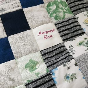 memory quilt embroidery