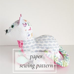 cat paper sewing pattern
