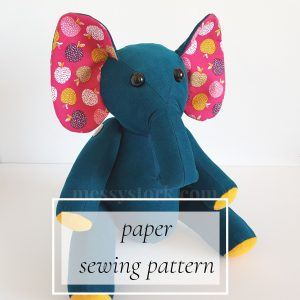 elephant paper sewing pattern