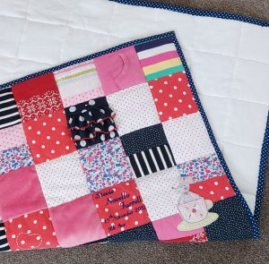 memory quilt backing and binding