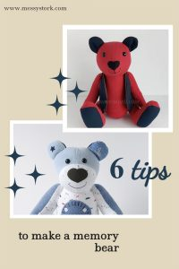 how to make a memory bear pattern