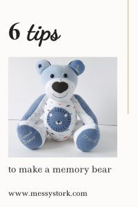 how to make a memory bear from clothes