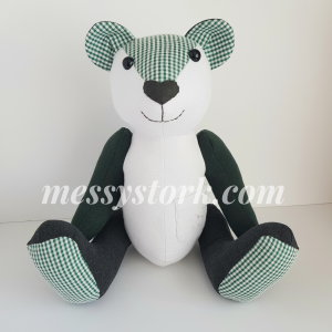 how to make a memory bear from school uniform