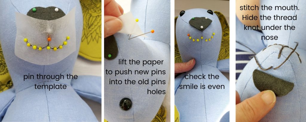 how to sew a bunnys mouth sewing pattern
